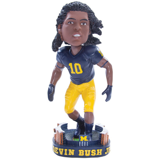 Forever Collectibles University of Michigan Football Devin Bush Jr.  Bobblehead