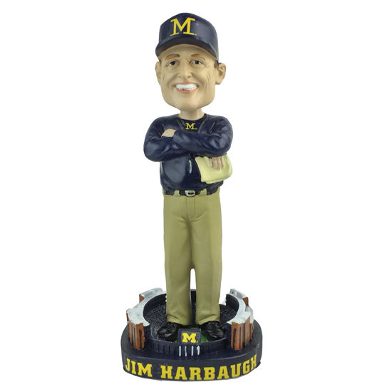 Forever Collectibles University of Michigan Jim Harbaugh Bobblehead