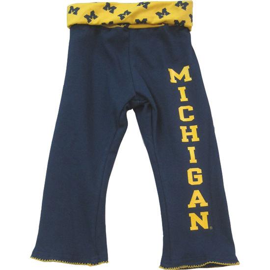 Third St. University of Michigan Toddler Navy Yoga Pant