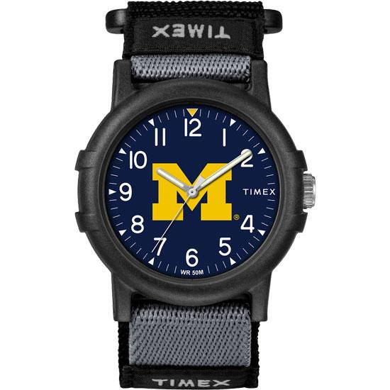 Timex University of Michigan Youth ''Recruit'' FastWrap Watch