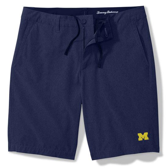 Tommy Bahama University of Michigan Navy Cayman Isles Hybrid Board Shorts