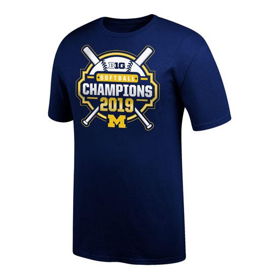 Top of The World University of Michigan Softball Big Ten Regular Season Champions Locker Room Tee
