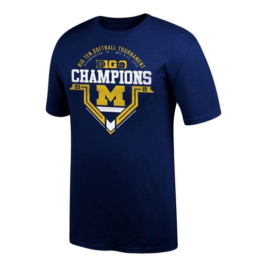 Top of The World University of Michigan Softball Big Ten Tournament Champions Locker Room Tee