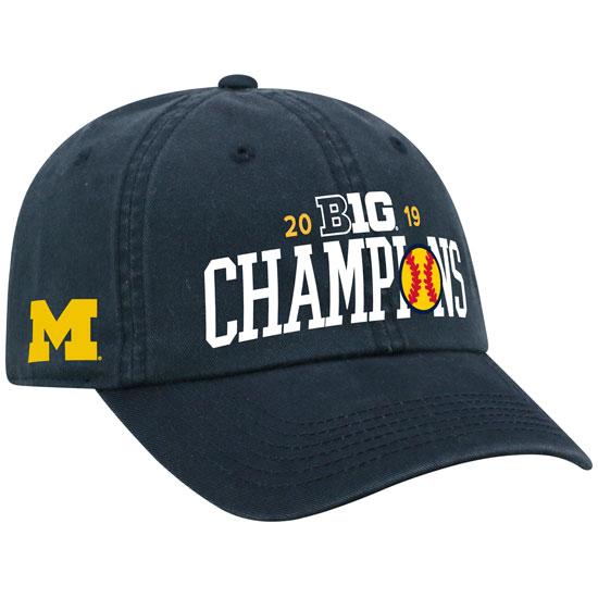 Top of the World University of Michigan Softball Big Ten Champions Navy Locker Room Hat