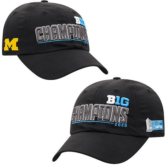 Top of the World University of Michigan Men's Swimming and Diving 2020 Big Ten Champions Black Locker Room Hat