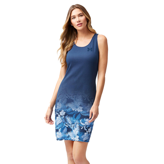 Tommy Bahama University of Michigan Women's Blue Floral Victory Dress