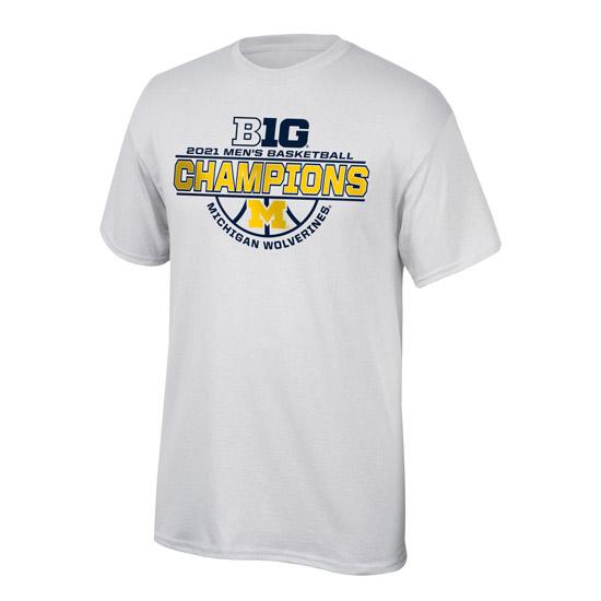 Top of The World University of Michigan Basketball Big Ten Regular Season Champions Locker Room Tee