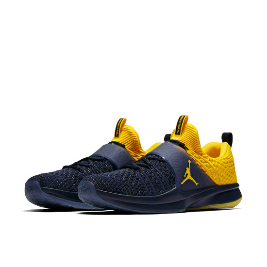 f8aaa8c7a723 Jordan University of Michigan Football Trainer 2 Flyknit Training Shoes.  Product Thumbnail ...