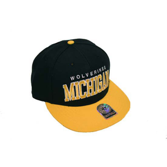 '47 Brand University of Michigan Navy Blockshed MVP Flat Brim Snapback Hat