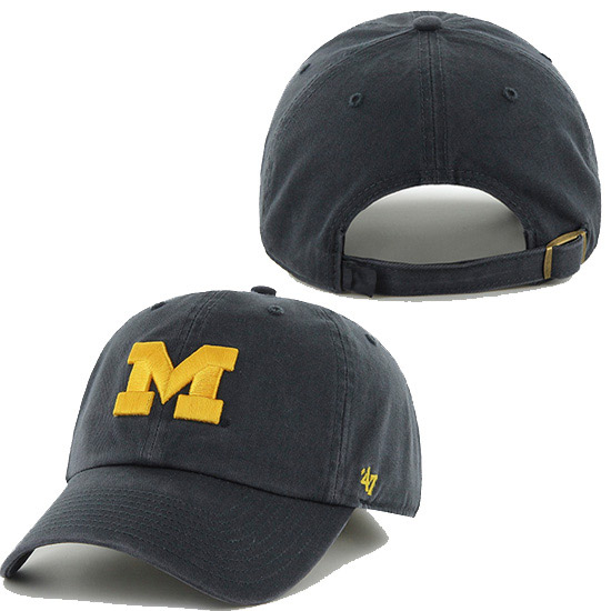 '47 Brand University of Michigan Navy Cleanup Basic Slouch Hat