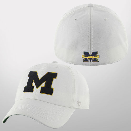 '47 Brand University of Michigan White Franchise Fitted Hat
