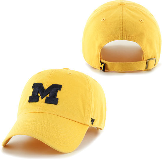 '47 Brand University of Michigan Yellow Clean-Up Slouch Hat