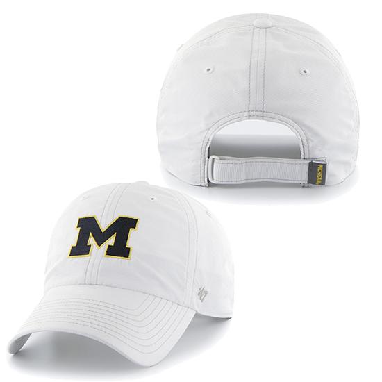 '47 Brand University of Michigan White Running Hat