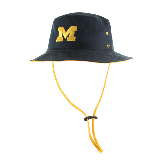 '47 Brand University of Michigan Navy Kirby Bucket Hat with Strap