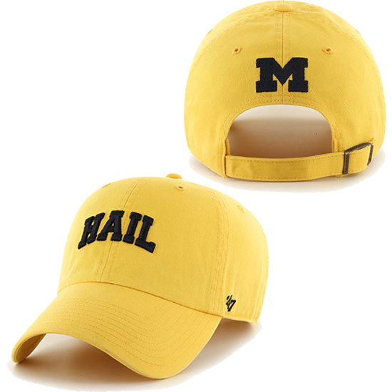 '47 Brand University of Michigan Yellow HAIL Clean-Up Slouch Hat