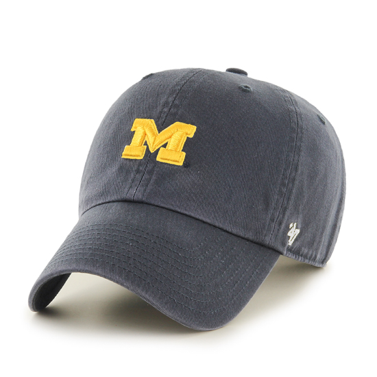 '47 Brand University of Michigan Navy Small Block ''M'' Logo Clean Up Hat