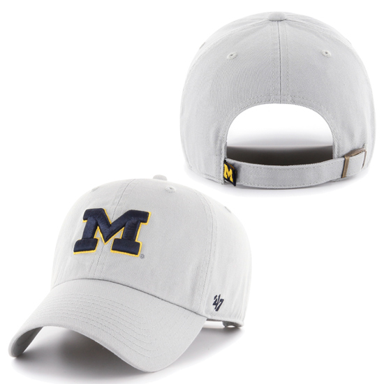 '47 Brand University of Michigan Gray Storm Clean-Up Slouch Hat