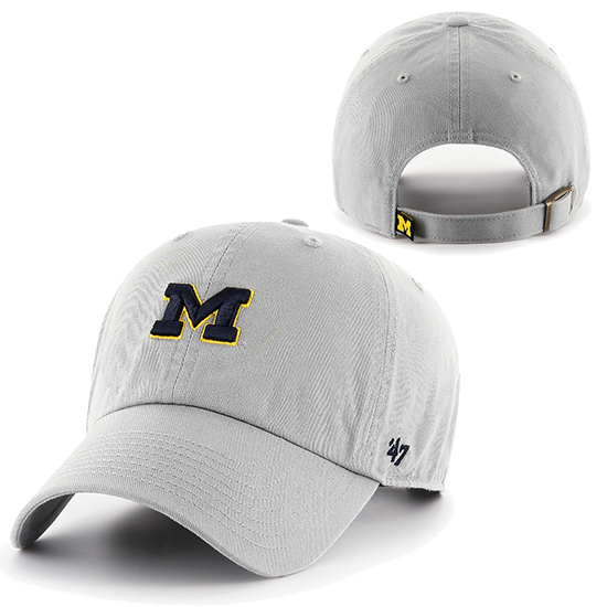 '47 Brand University of Michigan Cement Gray Clean-Up Slouch Hat