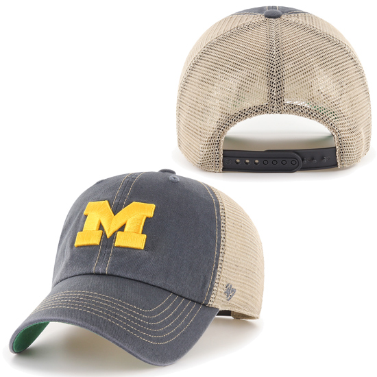 47 Brand University of Michigan Trawler Trucker Meshback Snapback Hat.  Product Thumbnail Product Thumbnail Product Thumbnail 5a00c716f1f