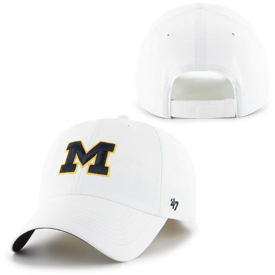 '47 Brand University of Michigan White ''Repetition'' Performance Clean-Up Running Hat