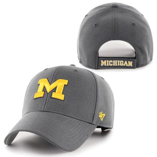 '47 Brand University of Michigan Charcoal Gray MVP Closer Hat
