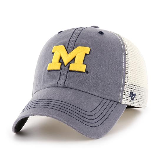 47 Brand University of Michigan Caprock Canyon Meshback Stretch Fit Hat 4f79db686921