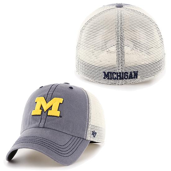 47 Brand University of Michigan Caprock Canyon Meshback Stretch ... 40a94f456936