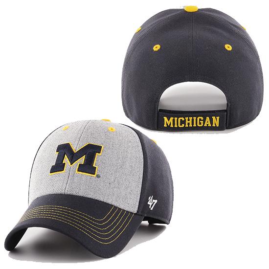 '47 Brand University of Michigan Gray/ Navy Formation MVP Closer Hat