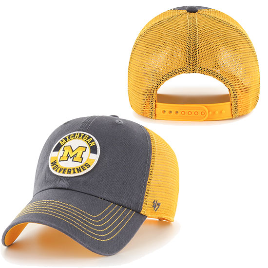 '47 Brand University of Michigan Navy Porter Clean-Up Meshback Snapback Trucker Hat