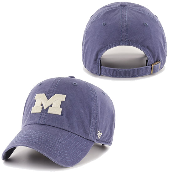 '47 Brand University of Michigan Washed Navy Blue ''Hudson'' Clean-Up Hat