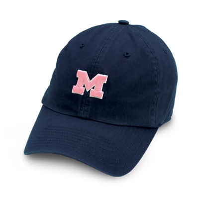 '47 Brand University of Michigan Youth Navy Hat with Pink Block M
