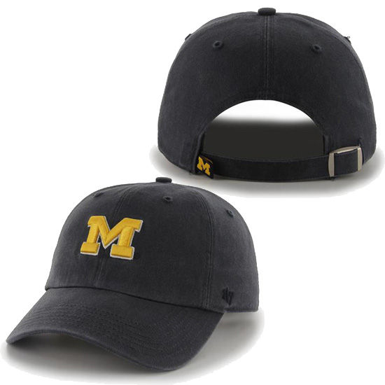 '47 Brand University of Michigan Ladies Navy Clean Up Slouch Hat