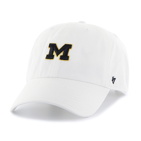 '47 Brand University of Michigan Ladies White Clean Up Hat