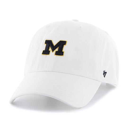 '47 Brand University of Michigan Ladies White Clean Up Hat
