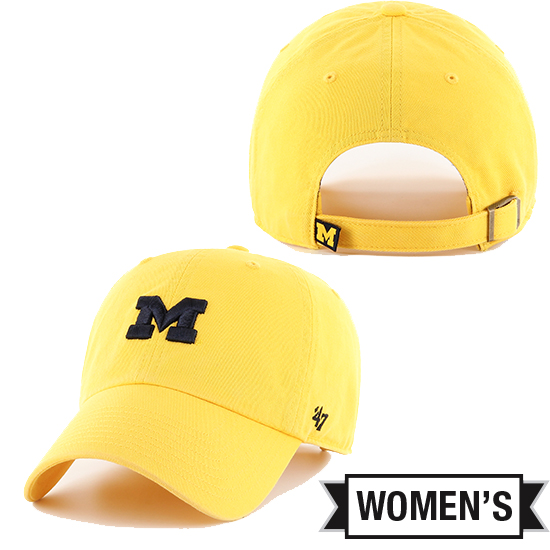 '47 Brand University of Michigan Women's Yellow Clean Up Hat