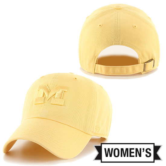 '47 Brand University of Michigan Women's Maize Tonal Clean-Up Hat