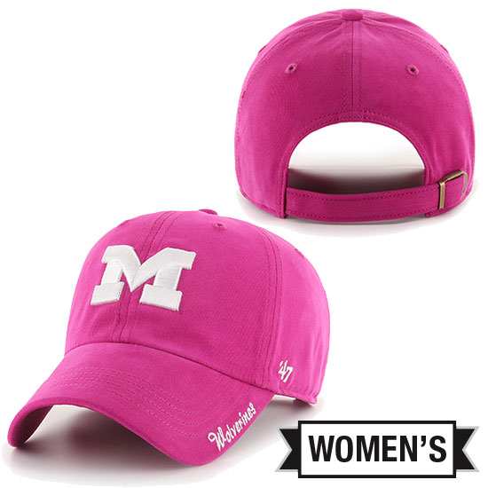 '47 Brand University of Michigan Women's Pink Orchid Miata Clean-Up Hat