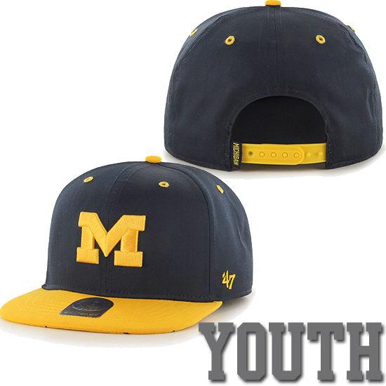 '47 Brand University of Michigan Youth Navy/ Yellow Snapback Hat