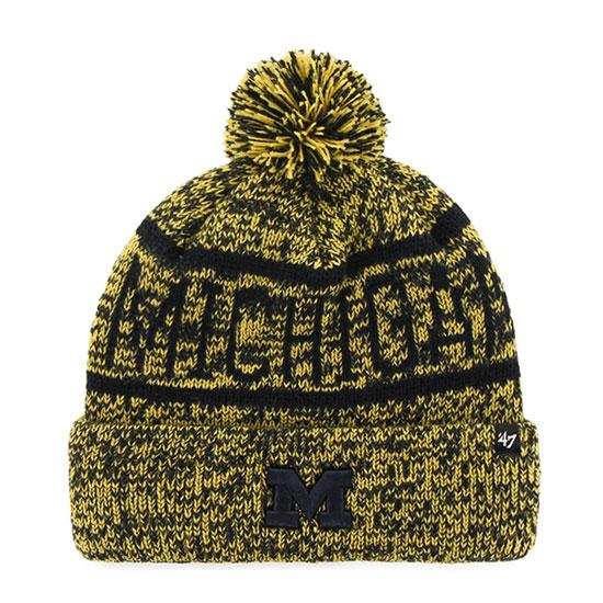 '47 Brand University of Michigan ''Northmont'' Cuffed Pom Knit Hat