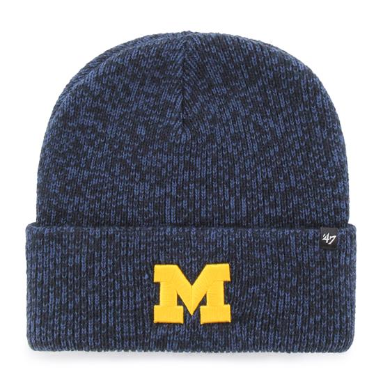 '47 Brand University of Michigan Navy ''Brain Freeze'' Cuffed Knit Hat