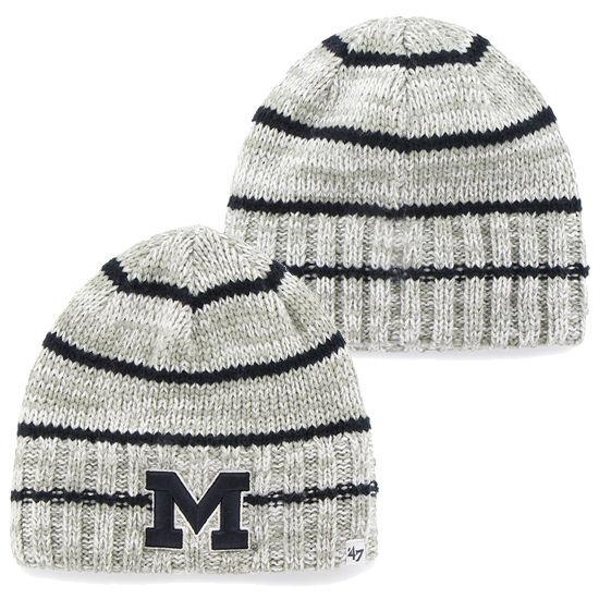 '47 Brand University of Michigan McMahon Gray Striped Faux Cuff Knit Hat