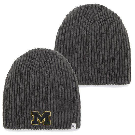 '47 Brand University of Michigan Gray Caribou Lightweight Knit Beanie Hat
