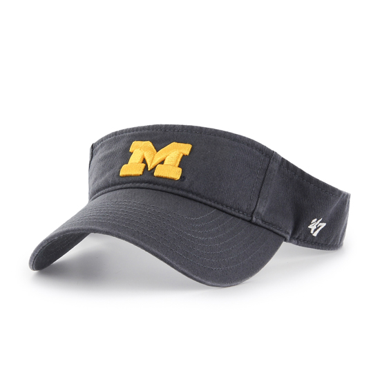 '47 Brand University of Michigan Navy Clean-Up Visor