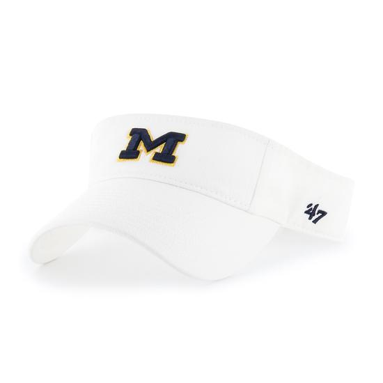 47 Brand University of Michigan White Clean-Up Visor