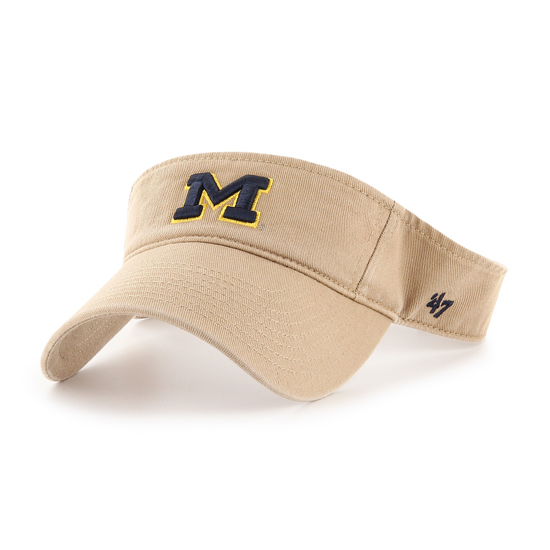 '47 Brand University of Michigan Khaki Clean-Up Visor