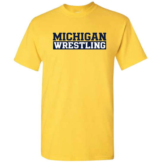 University of Michigan Wrestling Maize-Out Tee