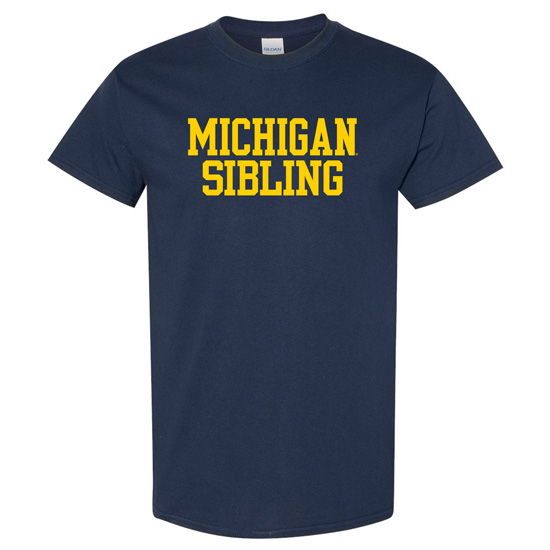 University of Michigan Sibling Navy Tee