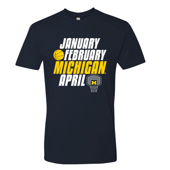 UGP University of Michigan Basketball ''New March'' Navy Tee