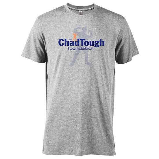 ChadTough Foundation Heather Gray Triblend Logo Tee
