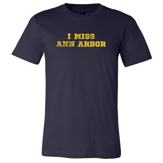 University of Michigan Navy ''I Miss Ann Arbor'' Tee